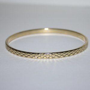 Vintage gold bangle bracelet